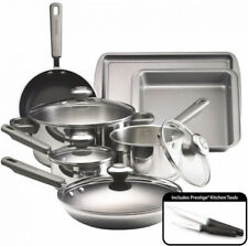 13 Piece Stainless Steel Cookware Set Dishwasher Safe Induction Pan Steamer Pots