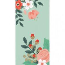 """Elise Modern Floral 3 Ply Guest Towel Dinner Napkins 16 Pack 4"""" x 8"""" Decoration"""