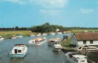 Postcard - Norfolk Broads - The River Bure from Acle Bridge