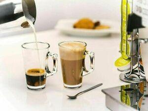 VERRE Latte Glasses Cappuccino Glass Tassimo Costa Coffee Cups  240ml Set of 2