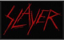 Slayer - Scratched Logo Red Rot Patch Aufnäher Thrash Heavy Metal Kutte NEU