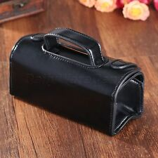 Black PU Leather Toiletry Wash Bag Shaving Brush Razor Pouch Case Father's Gift