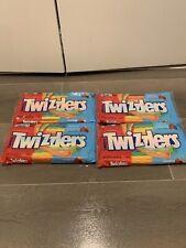 (Lot Of 4) Twizzlers Rainbow Licorice Candy Straws 12.4 oz Ea