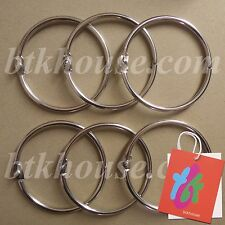 "btkhouse (ON SALE) - 70mm (2¾"")  Stainless Steel Loose Leaf Binder Ring (6 pcs)"
