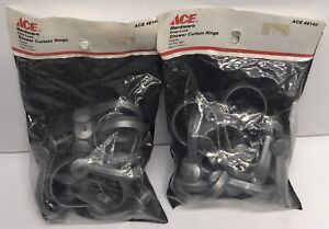 Ace Hardware Plastic Snap Lock Shower Curtain Rings 12 Pack Lot Of 2 (24 TOTAL)