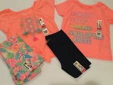 NWT Lot Garanimals Tops & Shorts Sets 2T Orange, Pink, Blue, Toucans - 4 Pieces