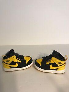 "2017' Nike Air Jordan 1 Retro Mid ""New Love"" Infant Toddler Torn Heel Loop"
