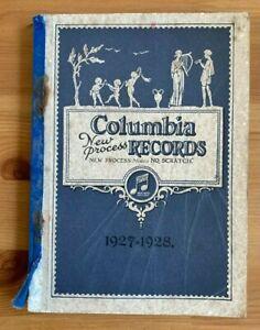 COLUMBIA NEW PROCESS RECORDS CATALOGUE 1927 - 1928