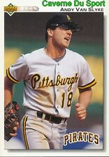 132 ANDY VAN SLYKE PITTSBURGH PIRATES BASEBALL CARD UPPER DECK 1992