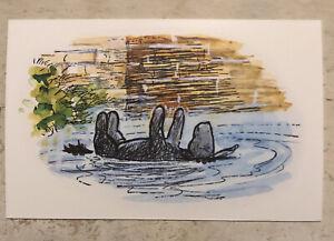 Postcard ~ Winnie-the-Pooh Eeyore Floating In River