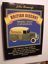"""BRITISH DIECAST BOOK,JOHN RAMSAY,7.5""""x9.5"""",1995,353 B&W,40 COLOR PAGES, NEW COND"""