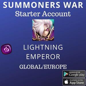 Summoners War Dark Lighting Emperor Herteit Starter Account