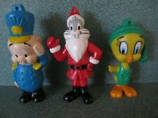 Arby's 1989 - Looney Tunes Christmas Ornaments - Complete Set of 3