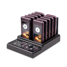 Restaurant Food Truck Customer Pager System 10Pager Vibration Buzzer Prompt Mode