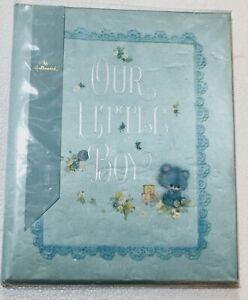 Vintage 1969 Hallmark OUR LITTLE BOY Blue Baby Album New With Box