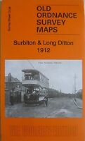 Old Ordnance Survey Maps Surbiton & Long Ditton Surrey 1912 Godfrey Edition New