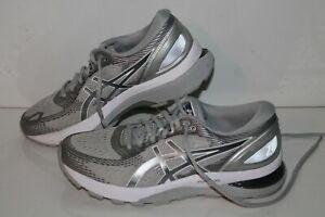 ASICS Gel Nimbus 21 Running Shoes, #1012A156, Gray/Silver, Womens US 8 Narrow