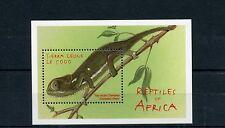 Sierra Leone 2000 MNH Reptiles of Africa 1v S/S Chameleon Lizards