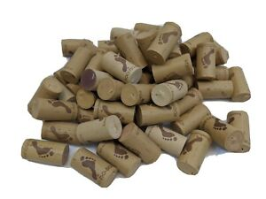 WINE CORKS 50 COUNT USED BROWN MOSTLY BAREFOOT FOR CRAFTS OR DECOR