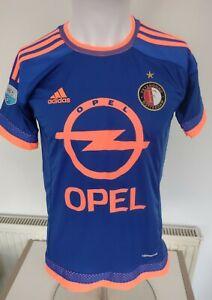 "Feyenoord Football Shirt Away Size M Medium 36 - 38 Pit - Pit 19"" Opel  Adidas"