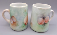 Vintage Hand Painted Porcelain Sea Shell Clams Scallops Tea Cup Coffee Mug Set