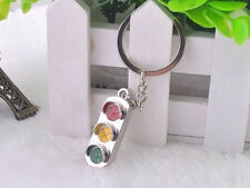 HJ048 Traffic Lights Keyring Classic 3D Pendant Key Bag Chain Creative Gift