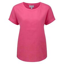 Pure Collection Leah Embroidered Linen Top,rrp £79 Pink Size 18 Box26 04 M