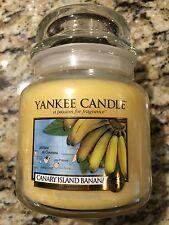 YANKEE CANDLE 14.5OZ CANARY ISLAND BANANA MEDIUM JAR CANDLE BRAND NEW! FREE SHIP