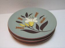 "Set of 4 Vintage 1950's STANGL Pottery ""GOLDEN HARVEST"" Plates 6"""