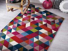 Tapis multicolores avec des motifs Géométrique pour la maison en 100% laine