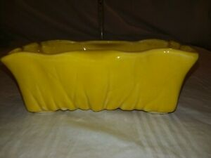 Vintage McCoy Pottery Planter-Bright Yellow Rectangle