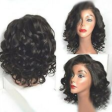New Natural Black Lace Front Wig Short Kinky Wavy Curly Heat Resistant Hair Wig
