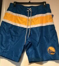 NWT NBA  Golden State Warriors Basketball Men's Boardshorts Swim Trunks  Size XL