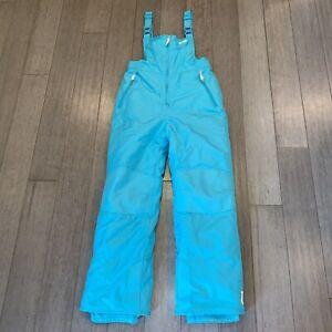 Champion Ski Bib Snow Suit Pants Teal VTG 80s 90s apres Womens MEDIUM