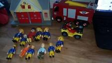 Fireman Sam  Figures Bundle. 2 vechicles 1 building