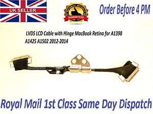 Apple LVDS LCD Cable with Hinge MacBook Retina for A1398 A1425 A1502 2012-2014