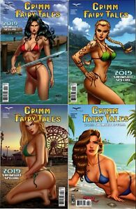 Zenescope Grimm Fairy Tales 2019 Swimsuit Edition Special Covers A, B, C, D