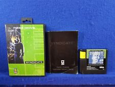 Sega Mega Drive SYNDICATE Game Boxed COMPLETE Tactical Real-Time Shooting PAL