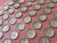 Selbstklebende 10mm Acryl Strass- Schmucksteine Glitzersteine Kristall Silber