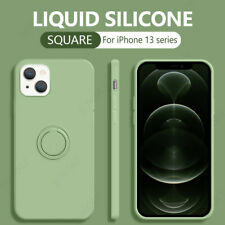 Liquid Silicone Ring Soft Case Cover For iPhone 13 12 11 Pro Max X XR XS 8 Plus