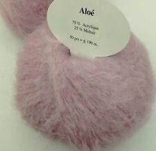 10 pelotes mohair couleur rose bonbon - fabriqué en France