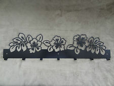 Metal rack with 7 hooks, flowers design, perfect for Christmas gift