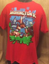 MINECRAFT WASHINGTON DC RED GRAPHIC T-SHIRT SZ Adult XL MC want to take over DC!