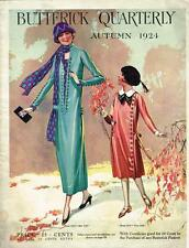 1920s Butterick Fall 1924 Quarterly Sewing Pattern Catalog 84 pg E-book on CD