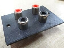 10x 4 Way RCA Phono Chassis Sockets on Plastic Panel terminal plate