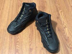 Jordan Pro Strong Mens Basketball Shoes Black Metallic Gold 407285-010 Sz 9.5