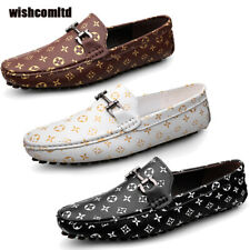 Mens Faux Leather Shoes Casual Loafers Slip on Office Dress Work Shoes Sizes