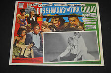 """Two Weeks in Another Town 14""""x11"""" Spanish Lobby Card - MGM (1962) ITB WH"""