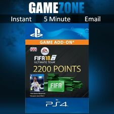 2200 FIFA 18 Ultimate Team Points - PS4 - PlayStation - PSN Code - UK - 2018