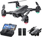 Dragon Touch DF01 Foldable Drone with Camera for Adults, WiFi FPV Drone with 120